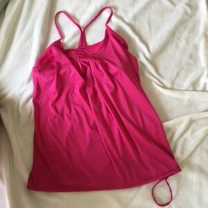 Pink champion work out tank & built in sports bra